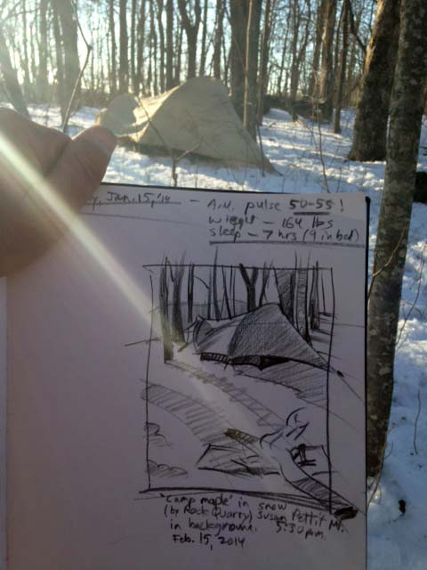 Snow camp live sketch
