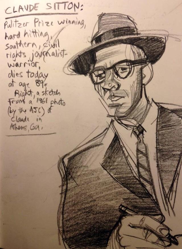 Claude Sitton sketch