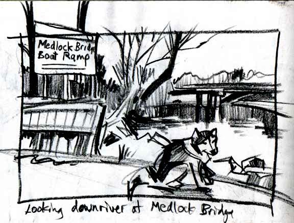 Medlock Bridge sketch2