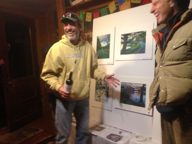 Charlie Hankey and paintings