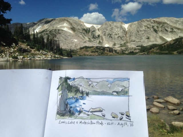 Medicine Bow Peak sketch