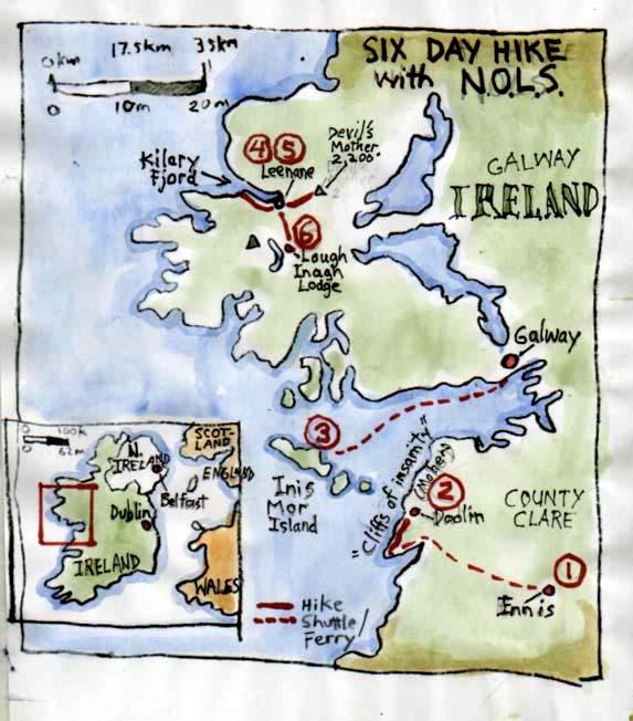 Ireland NOLS map